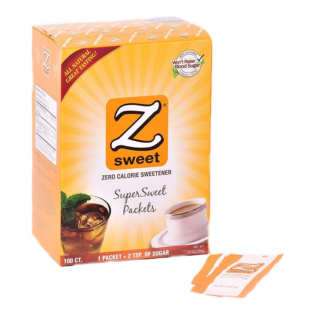 ZSweet - All Natural Zero Calorie Sweetener (100 Packets)