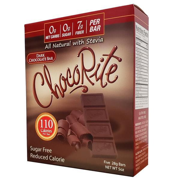 Healthsmart - ChocoRite All Natural with Stevia Chocolate Bar - Dark - 5 oz