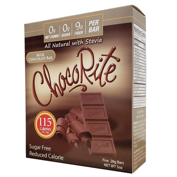 Healthsmart - ChocoRite All Natural with Stevia Chocolate Bar - Milk - 5 oz