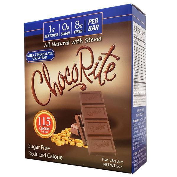 Healthsmart - ChocoRite All Natural with Stevia Chocolate Bar - Milk Crisp - 5 oz