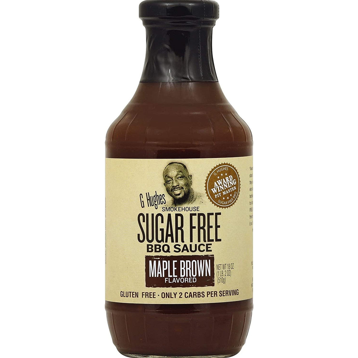 G Hughes Smokehouse - Sugar Free BBQ Sauce - Maple Brown - 18 oz.