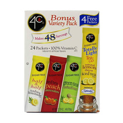 4C - Totally Light Tea 2 Go Drink Mix - Variety Pack - 24 sticks in Box - Low Carb Canada - 1