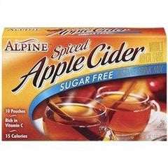 Alpine Cider - Sugar Free Spiced Apple Cider - 10 pouches - Low Carb Canada
