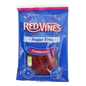 American Licorice - Sugar Free Vines - Strawberry Licorice - 5 oz Bag - Low Carb Canada - 1