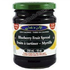 Jok n Al - Fruit Spreads - Blueberry - 10 oz - Low Carb Canada