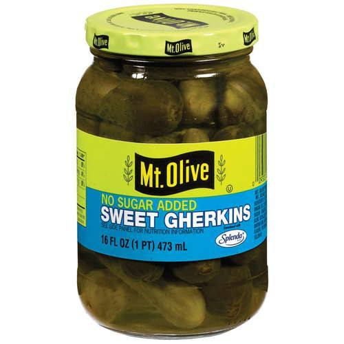 Mt. Olive - Sugar Free - Sweet Gherkins - 16 fl oz - Low Carb Canada