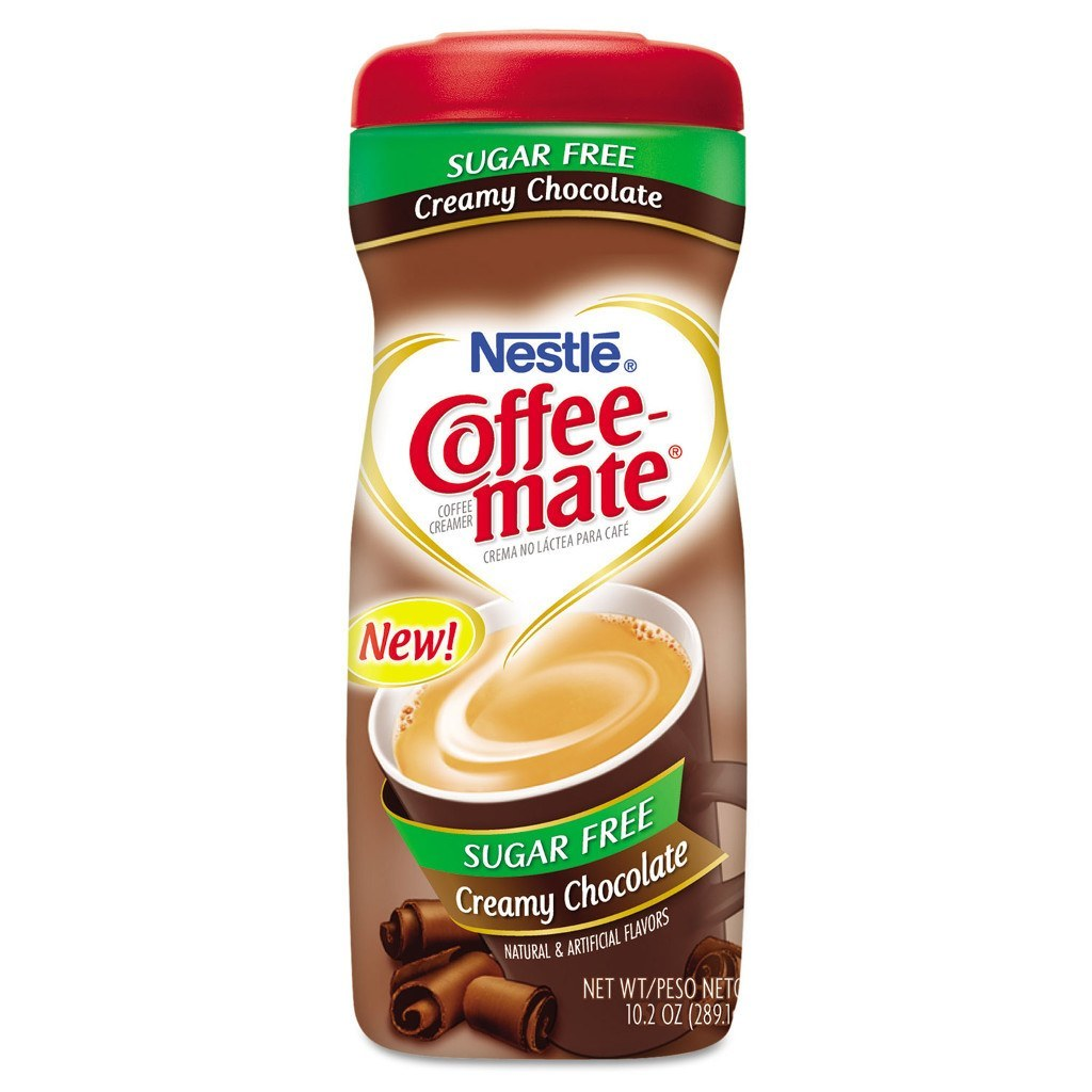 Nestle - Sugar Free Coffee Mate Powder - Creamy Chocolate - 10.2 oz - Low Carb Canada