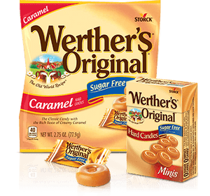 Werther's Original - Sugar Free Hard Candies - Classic Caramel - 2.75 oz Bag - Low Carb Canada