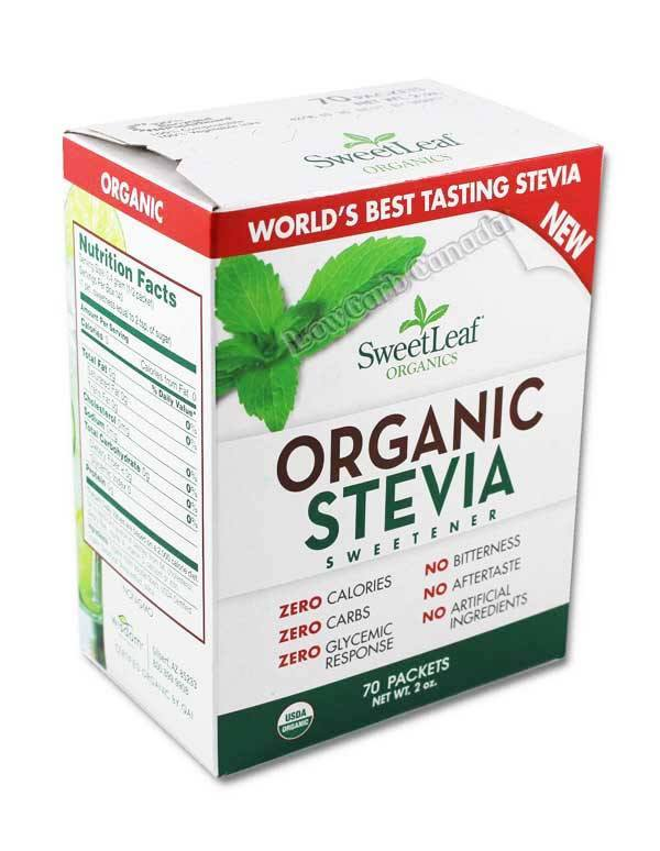 SweetLeaf - Box - 100% Natural Stevia Sweetener - 70 Packets - Low Carb Canada - 1
