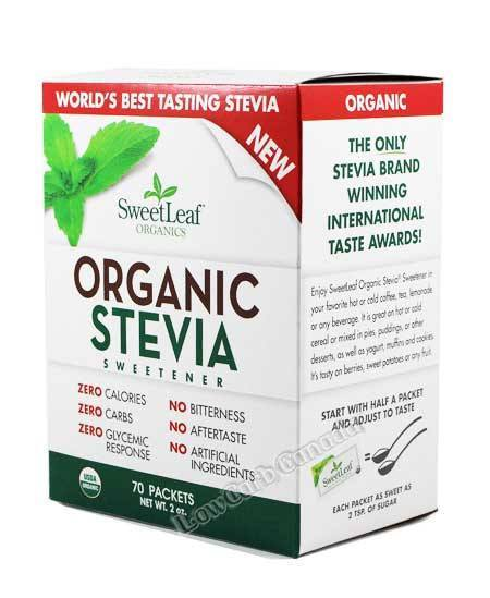SweetLeaf - Box - 100% Natural Stevia Sweetener - 70 Packets - Low Carb Canada - 2
