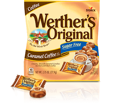 Werther's Original - Sugar Free Hard Candies - Caramel Coffee - 2.75 oz bag - Low Carb Canada