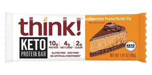 thinkThin - Keto Protein Bar - Chocolate Peanut Butter Pie - 1 Bar
