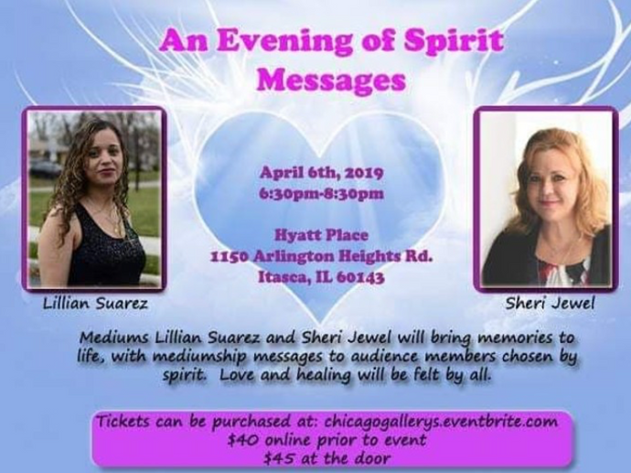 April 6, 2019: Mediumship Gallery with Lillian Suarez