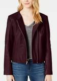 Asymmetrical Leather Moto Jacket