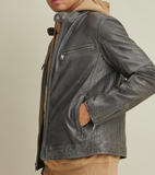 Brent Leather Moto Jacket