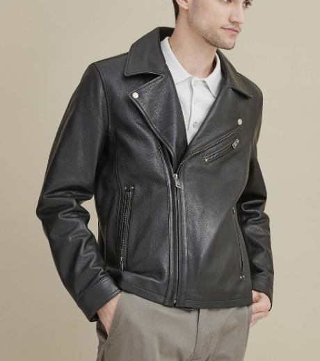 Charlie Leather Moto Jacket