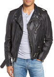 Hand Vintaged Cowhide Leather Motorcycle Jacket