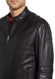 Jagson Slim Fit Sheepskin Moto Jacket