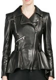 Leather Peplum Jacket