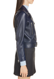 Mock Core Leather Moto Jacket