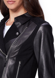 Silvie Leather & Suede Moto Jacket