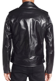 Waxy Cowhide Leather Motorcycle Jacket