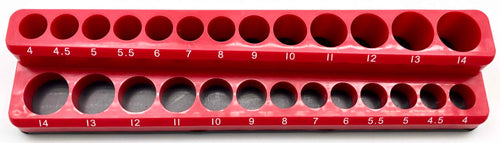 1/4 in. Drive SAE Magnetic Socket Holder (26-Piece)