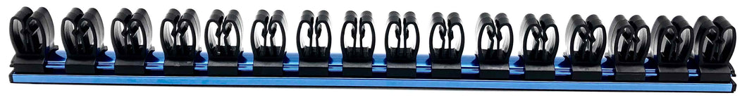 18 in. Magnetic Aluminum Tool Holder with 16 Clips