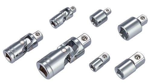 1/4 in., 3/8 in., 1/2 in. Universal Joint and Socket Adaptor Set (7-Piece)