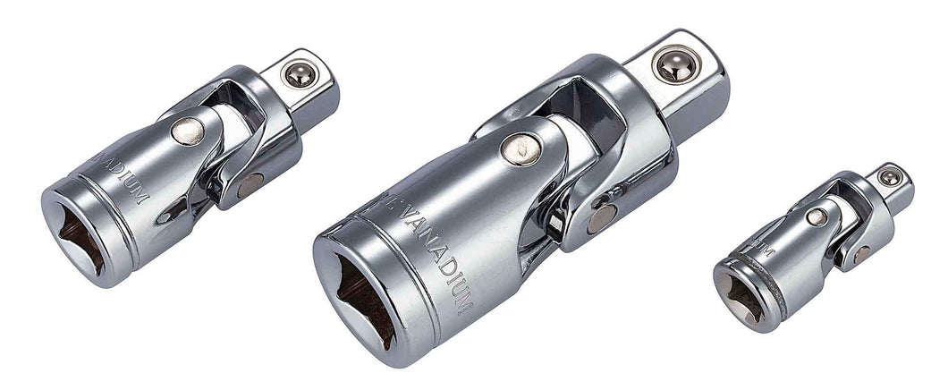 1/4 in., 3/8 in., 1/2 in. Universal Joint Set (3-Piece)