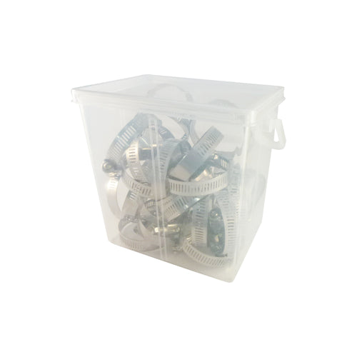 1-1/4 in. to 2-1/4 in. Stainless Steel Hose Clamps (25-Pack)