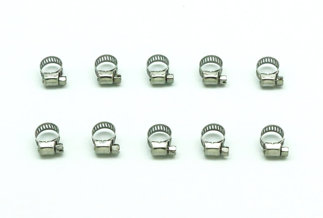 1/4 in. - 3/8 in. Stainless Steel Hose Clamps (10-Pack)