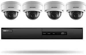 2) Hikvision I7604N1TA IP Security Camera Kit / 4 Channel NVR and Network Camera Surveillance Kit, Dome, 4 x 2 5 Megapixel Resolution, 2.8 MM Lens, DWDR, H.264/H.264+/MJPEG, 4-Channel, 1U, 1 TB, With Hard Disk Drive