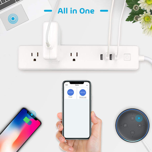 Smart Power Strip, Wi-Fi Surge Protector by Meross, Alexa, Google Home IFTTT Supported, Remote Control -MSS425E