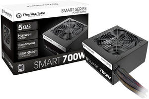 Thermaltake Smart 700W ATX 12V V2.3/EPS 12V 80 Plus Certified Active PFC Power Supply PS-SPD-0700NPCWUS-W