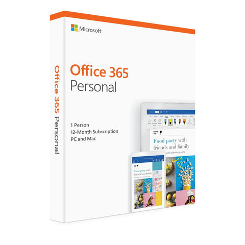Microsoft Office 365 Personal (PC/Mac) - 1 User - 1 Year - English