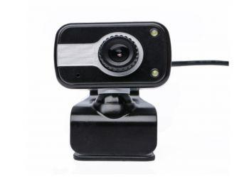 PC& Laptop USB 480p Webcam with Microphone, 2 lights, stand & clip available