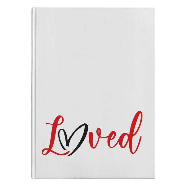 Loved [White Design] - Hardcover Journal