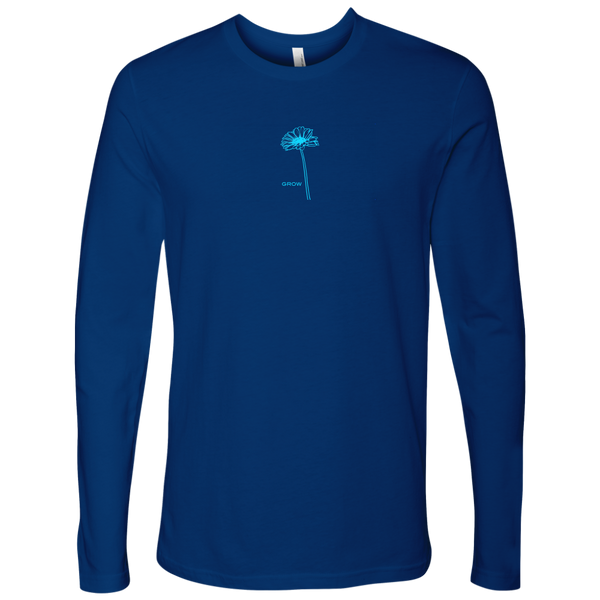 Grow - Next Level Long Sleeve - Limited Edition Baby Blue Logo on Royal Blue