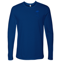 Grow: Cobalt Blue Pocket Logo - Next Level Long Sleeve