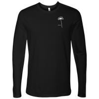 Grow: White Pocket Logo - Next Level Long Sleeve