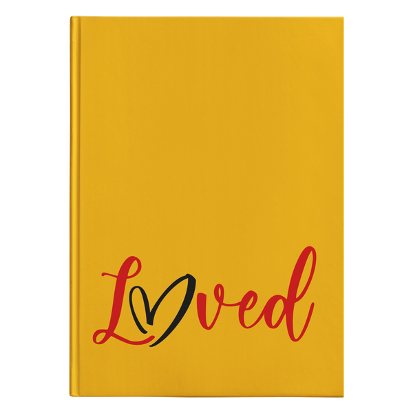 Loved [Orange Design] - Hardcover Journal