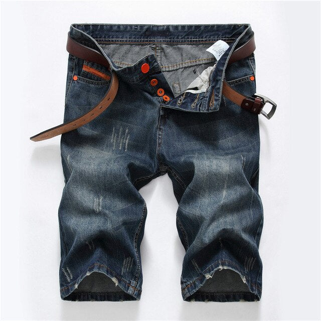 Mens Short Jeans Cotton Summer Style Shorts