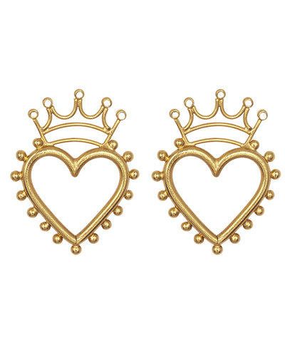 Queen of Hearts Pendientes - Boho Hunter Europe