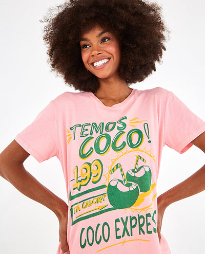 Coco Camiseta Rosada - Boho Hunter Europe