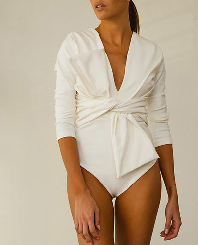 Long Sleeve Body Blanco - Boho Hunter Europe