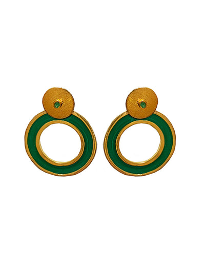 Circle Pendientes Verde - Boho Hunter Europe