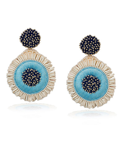 Greta Pendientes Azul - Boho Hunter Europe