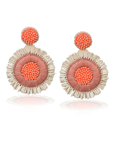Greta Pendientes Salmon - Boho Hunter Europe
