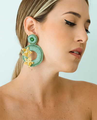 Magdalena Pendientes Verde - Boho Hunter Europe